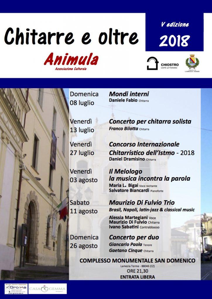 Festival Chitarre e oltre 2018 Lamezia