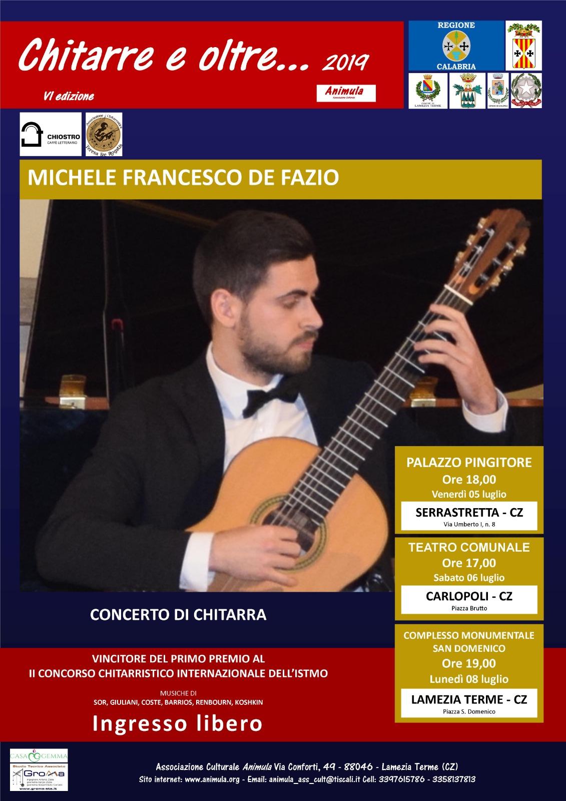 Concerto per chitarra Michele Francesco De Fazio