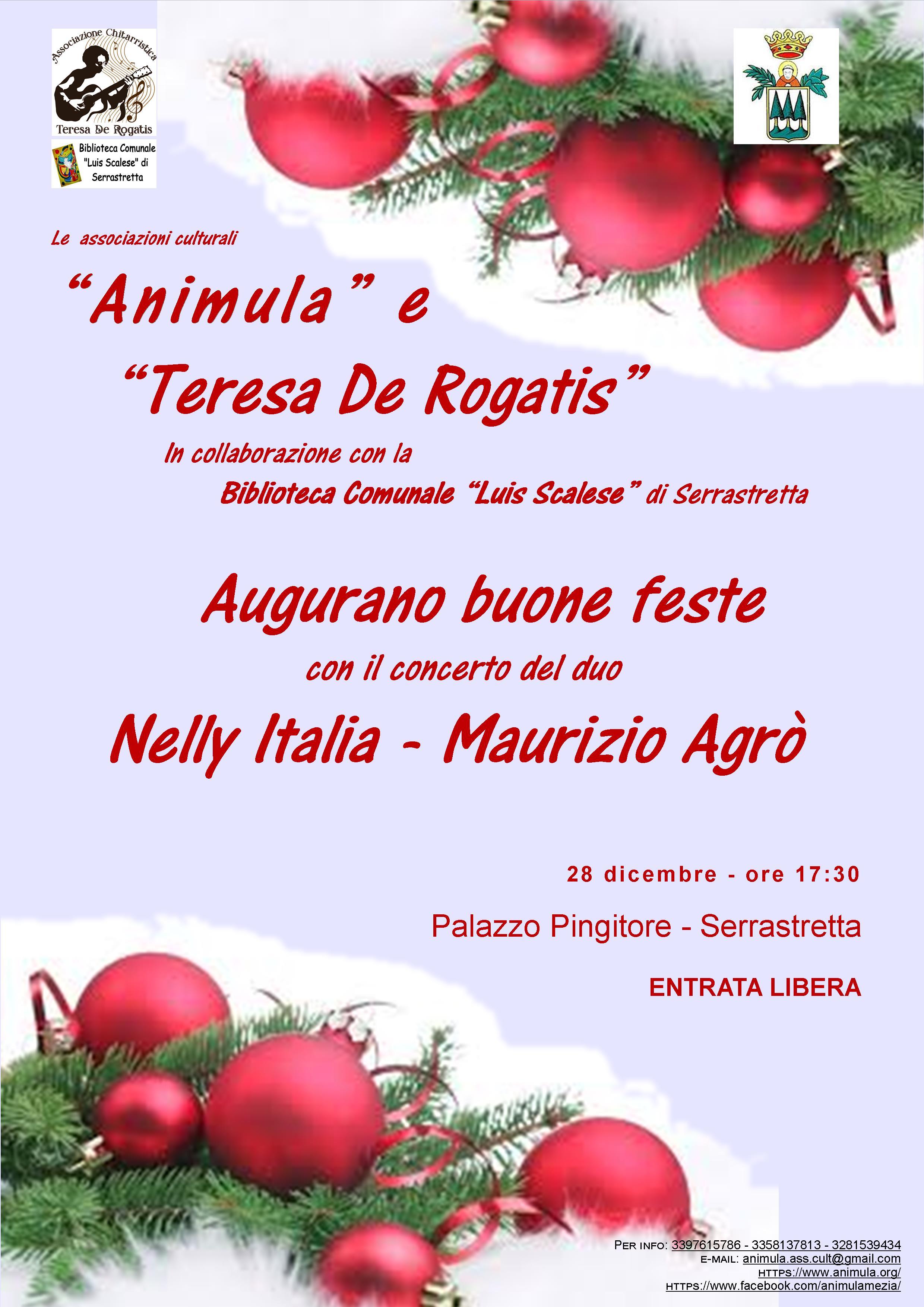 Concerto di fine anno - Nelly Italia e Maurizio Agrò