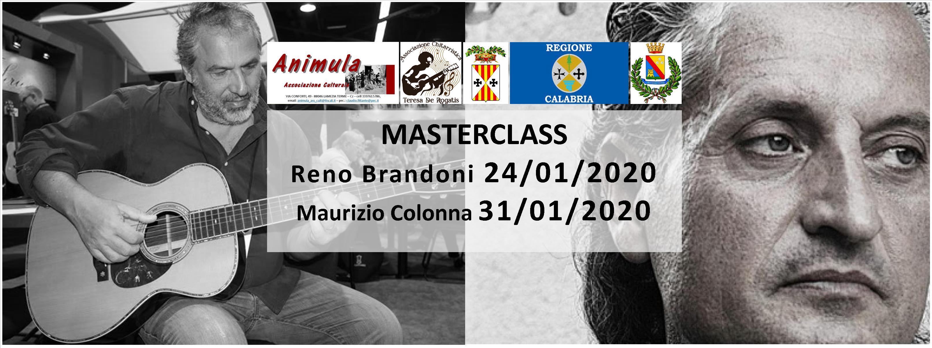 Master con Reno Brandoni e Maurizio Colonna